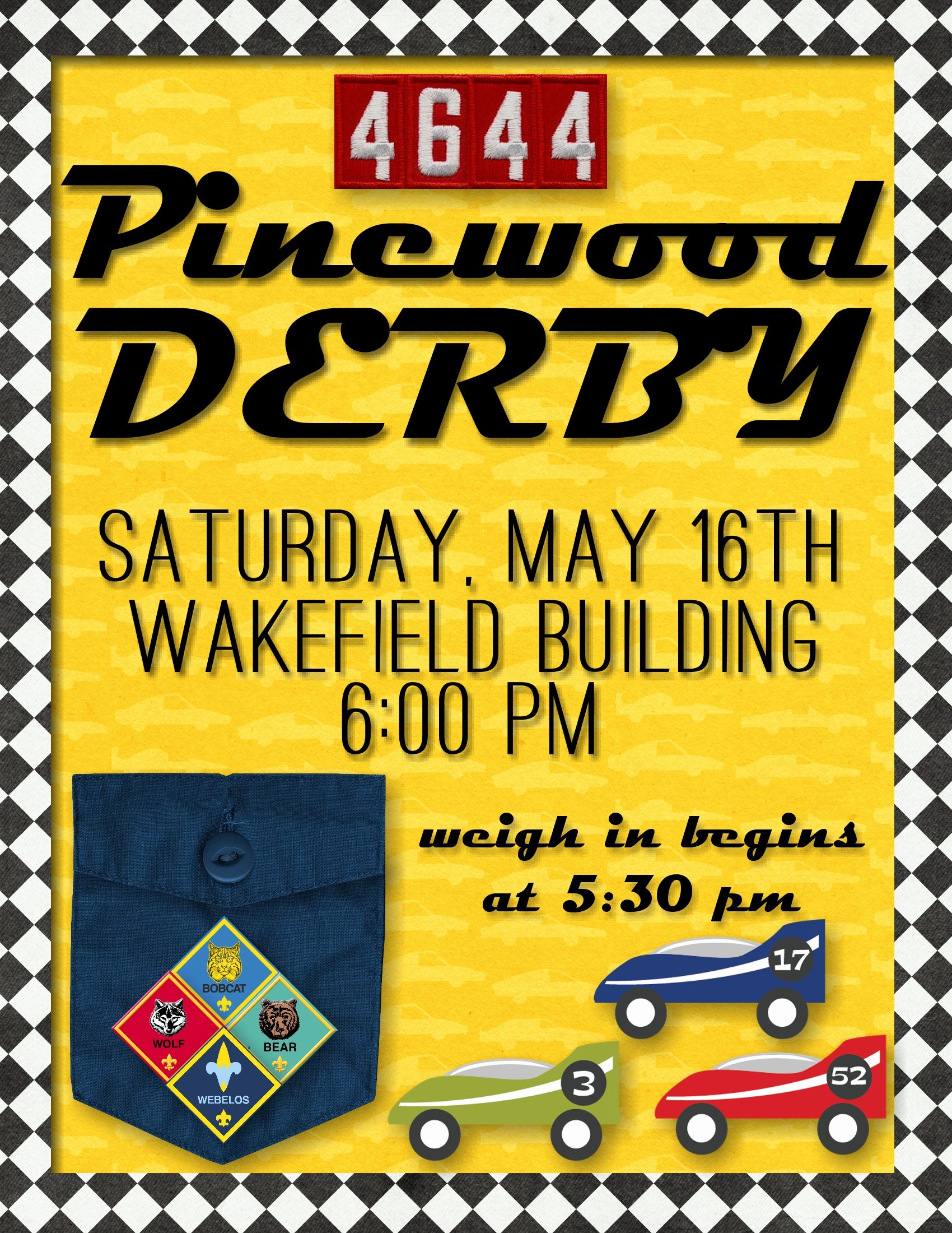 Pinewood Derby Flyer Template Yourweek Eeca25e