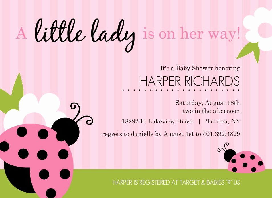 Pink Baby Shower Invitations Template