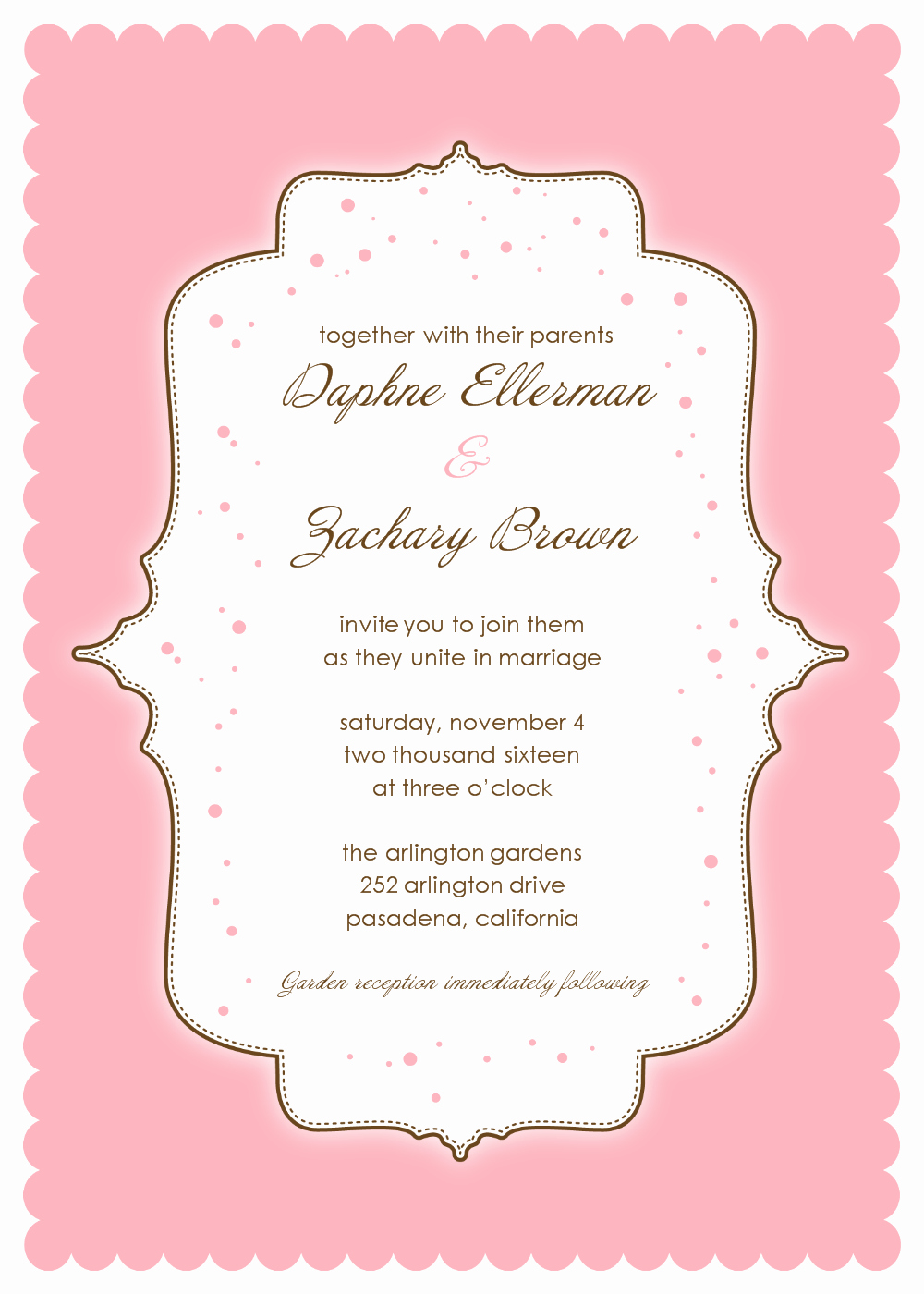 Pink Invitations Template