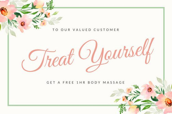 Pink Massage Gift Certificate Templates by Canva