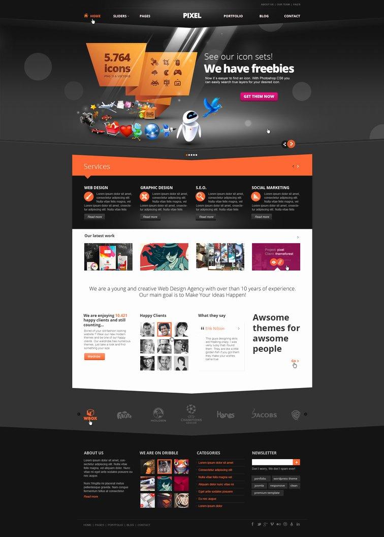 Pixel Studio Premium Website Template Dark by