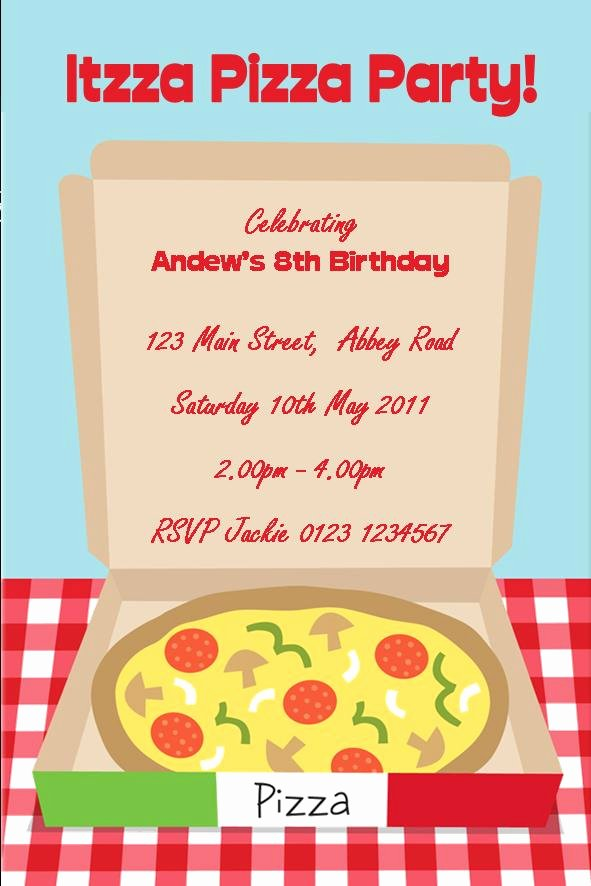 Pizza Party Invitation Pizza Party Invitation for Creating