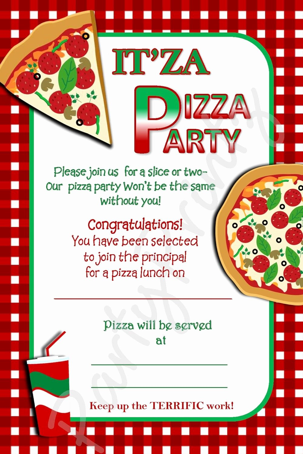 Pizza Party Invitations Party Invites In 2018