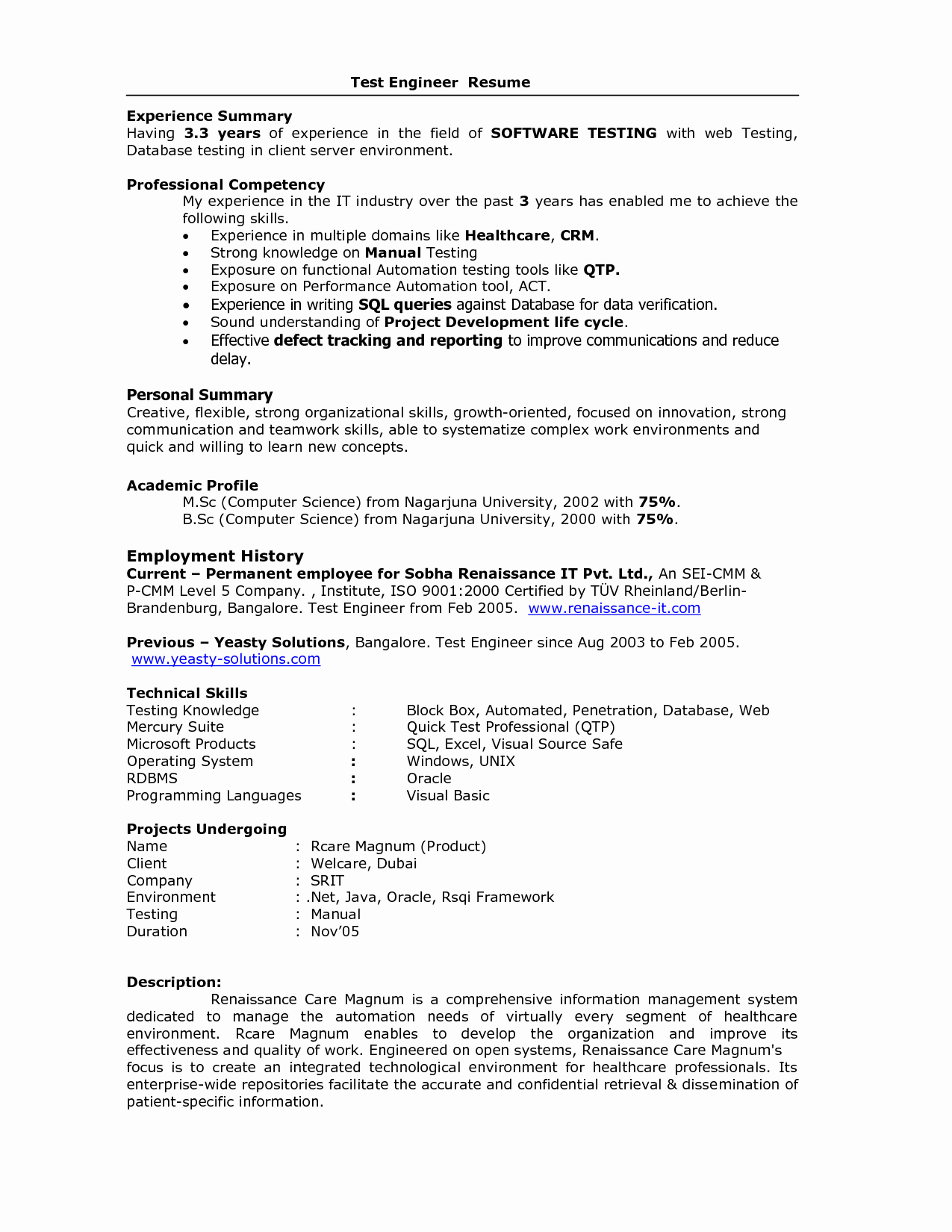 Pl Sql Developer Resume 1 Year Experience Resume Ideas