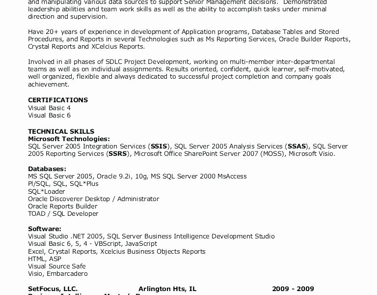 Pl Sql Developer Resume Pl Developer Sample Resume Luxury