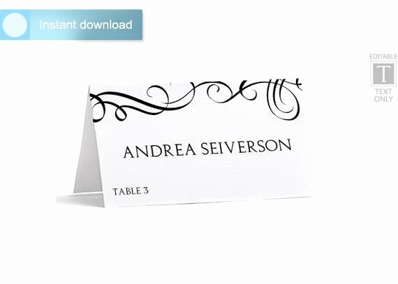 Place Card Template Download Instantly by Karmakweddings