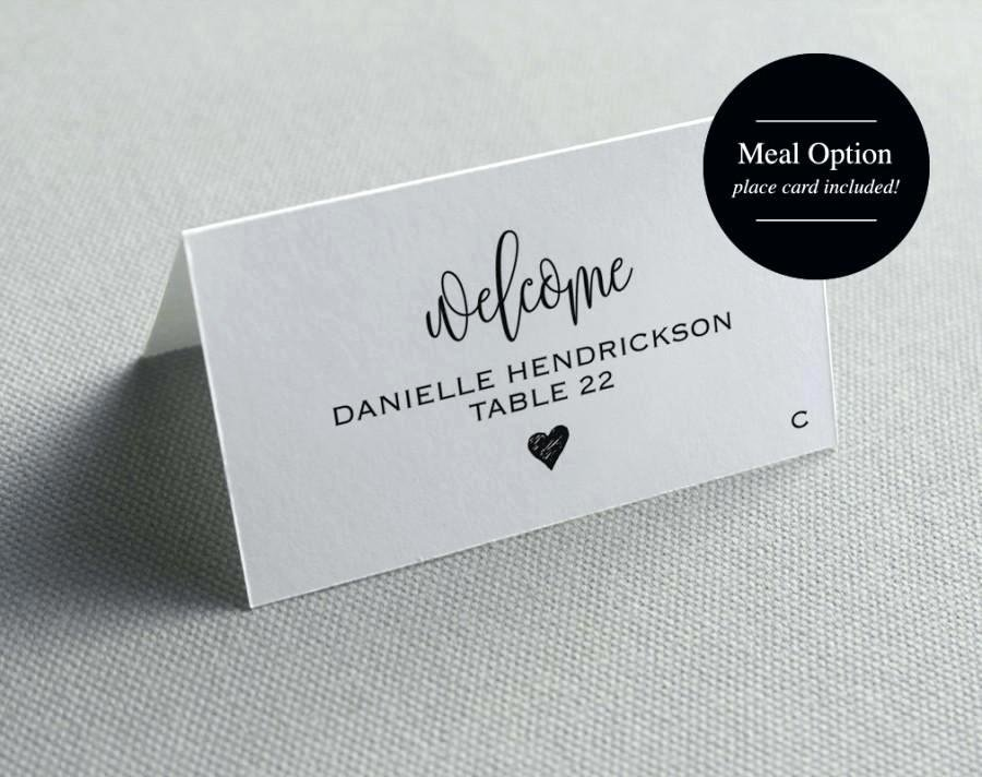 Place Card Template Printable Wedding Cards Seating