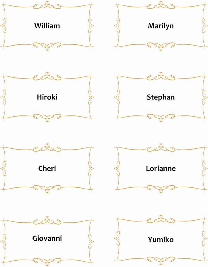 Place Card Template Template Free Download