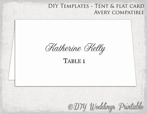 Place Card Template Tent & Flat Name Card Templates