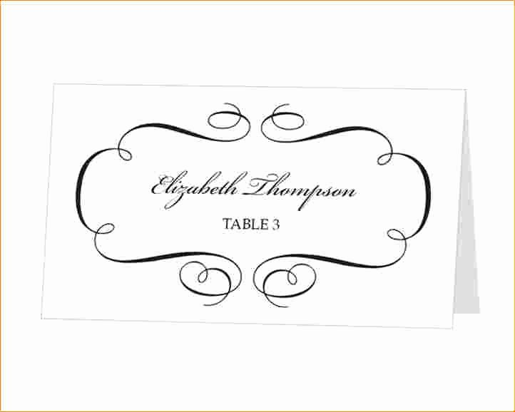Place Cards Template Word Download Beautiful Template