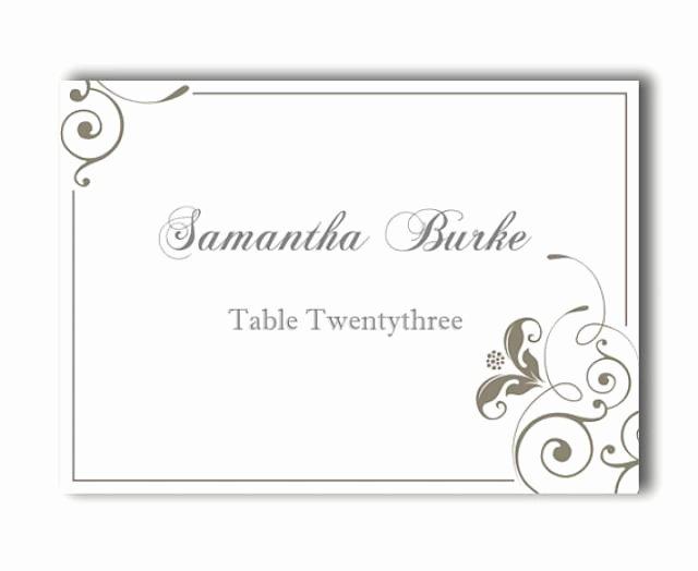 Place Cards Wedding Place Card Template Diy Editable Printable Place Cards Elegant Place Cards