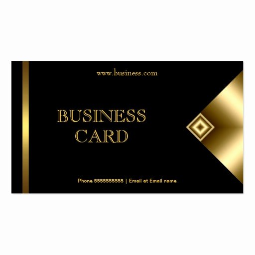 Plain Simple Gold Black Elegant Classy 4a Business Card