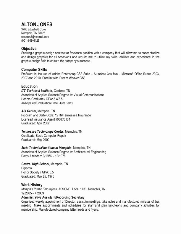 Plain Text Resume