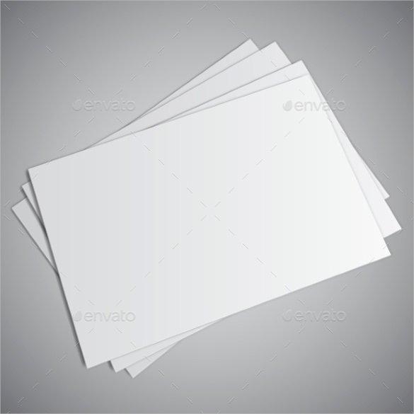 Plain White Business Card Template Free Beautiful