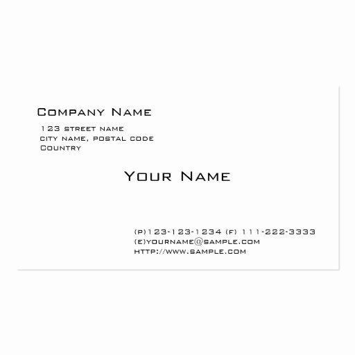 Plain White Pack Of Standard Business Cards