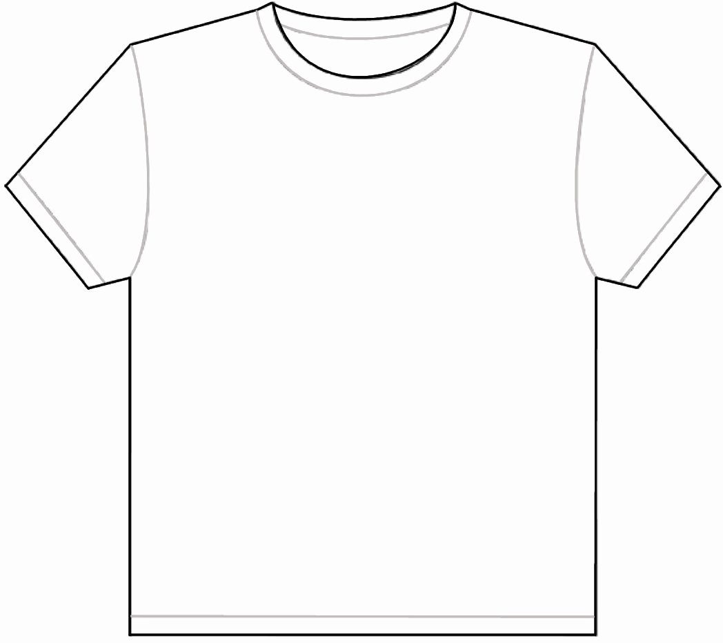 Plain White T Shirt Template