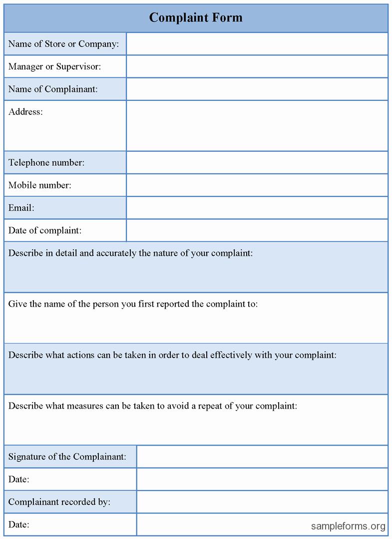 Plaint form Template Sample forms