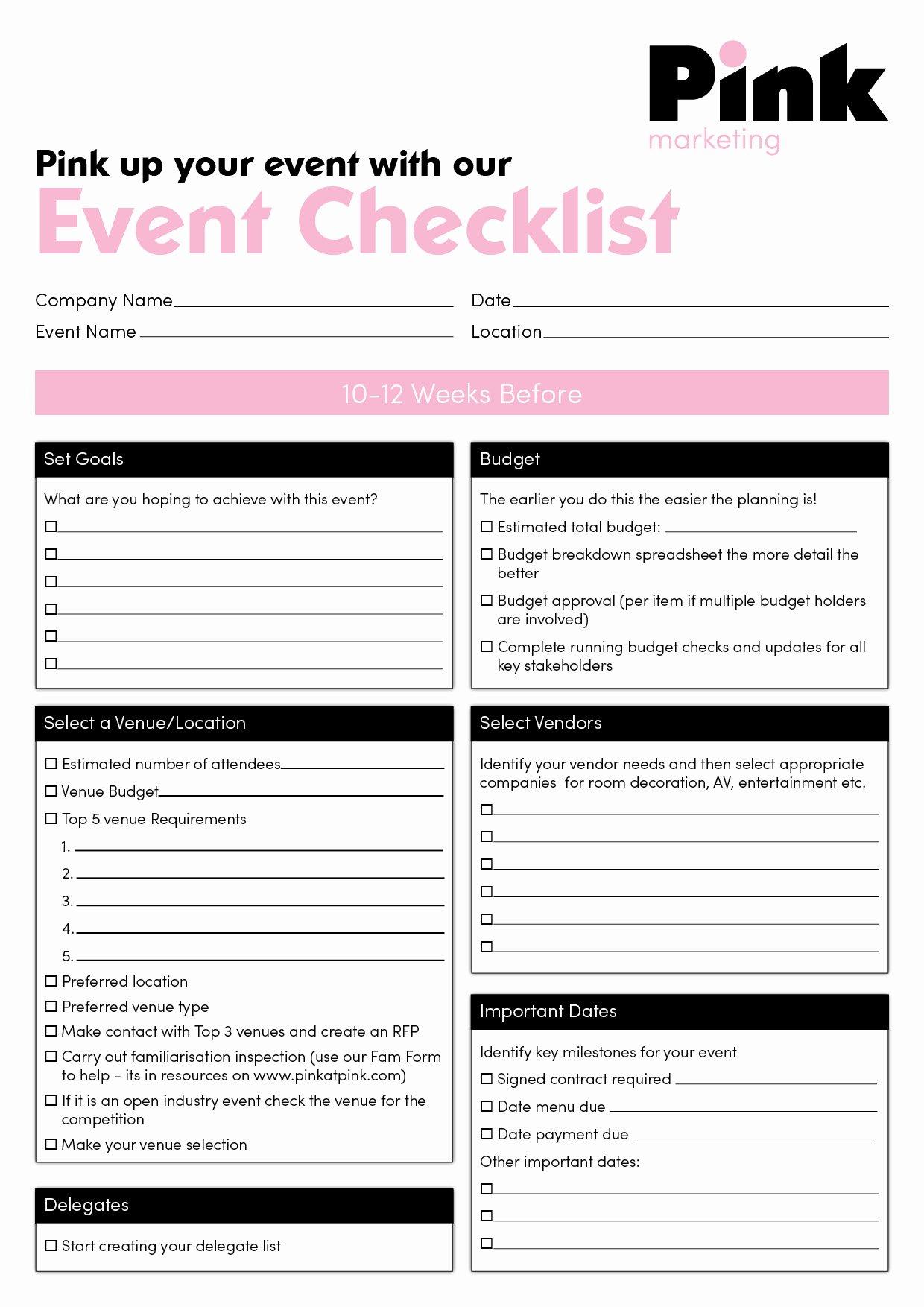 Plan event Planning Checklist event Planning Checklist