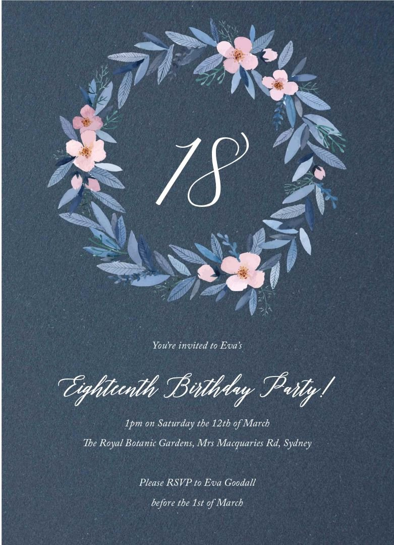 Planning An 18th Party or attending One Your 18th