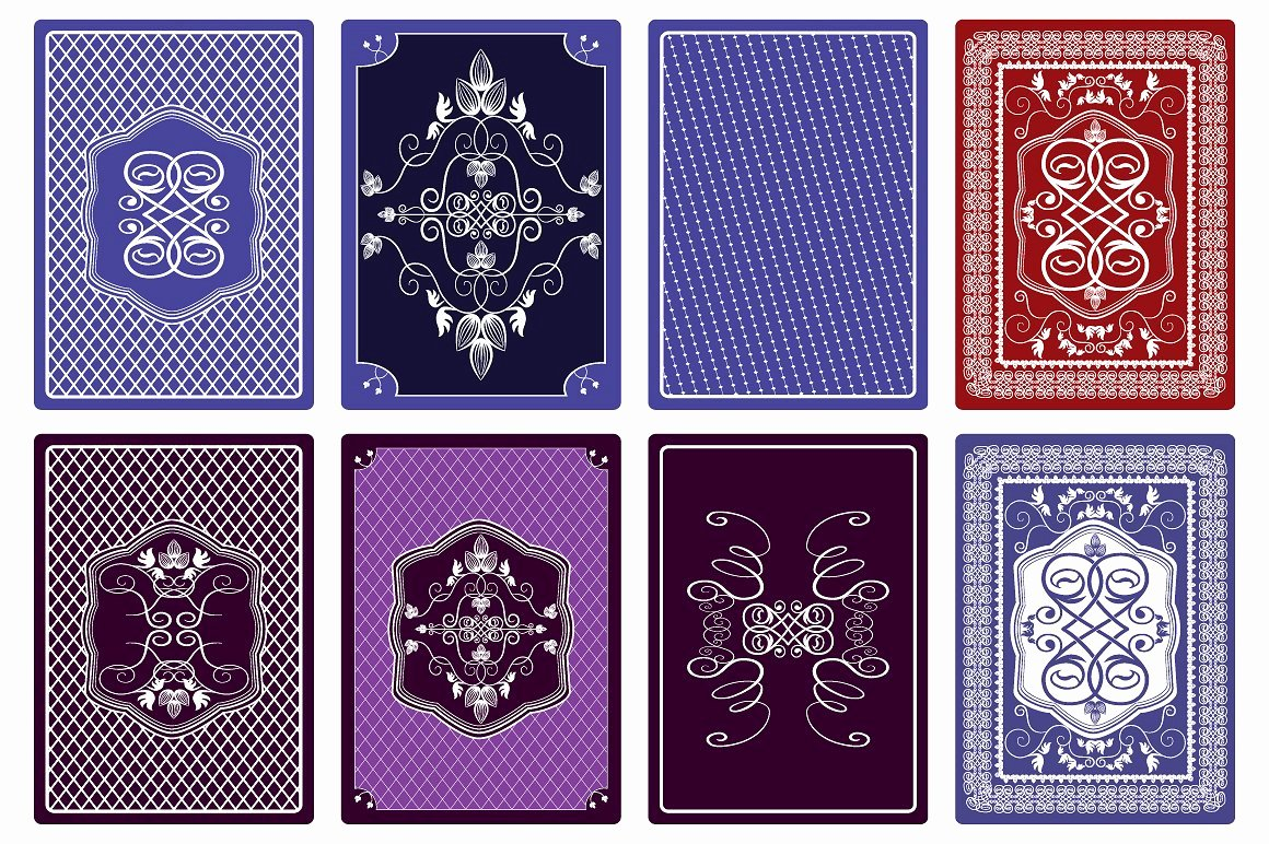 Playing Card Back Designs Illustrations Creative Market
