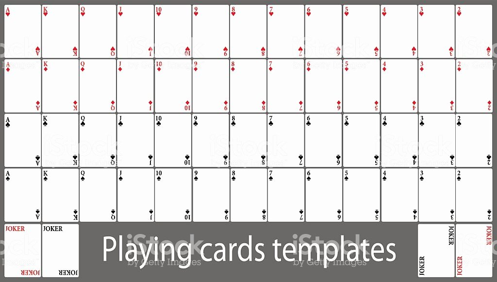 Playing Card Template Photoshop Cards 4 Beautiful