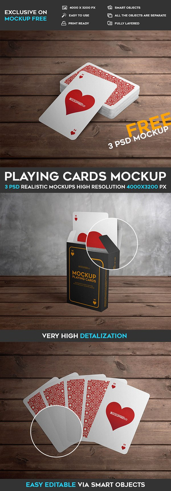 Playing Cards – 3 Free Psd Mockups On Behance