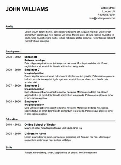 Pletely Free Resume Builder Template