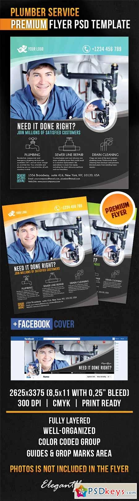 Plumber Service – Flyer Psd Template Cover