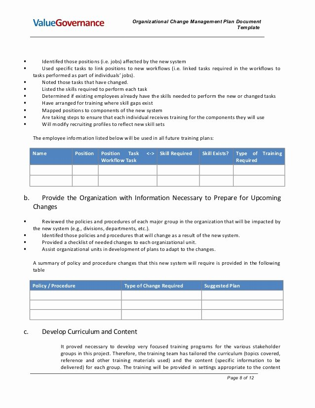 Pm002 02 organizational Change Management Plan