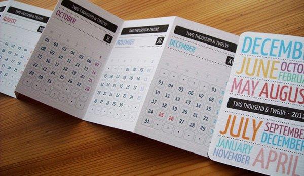 Pocket Calendar 2012 On Behance