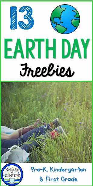 Pocketful Of Centers Earth Day Freebies for Kindergarten
