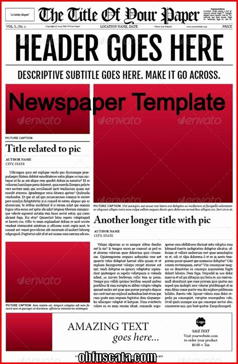 Points to Note In A Newspaper Template