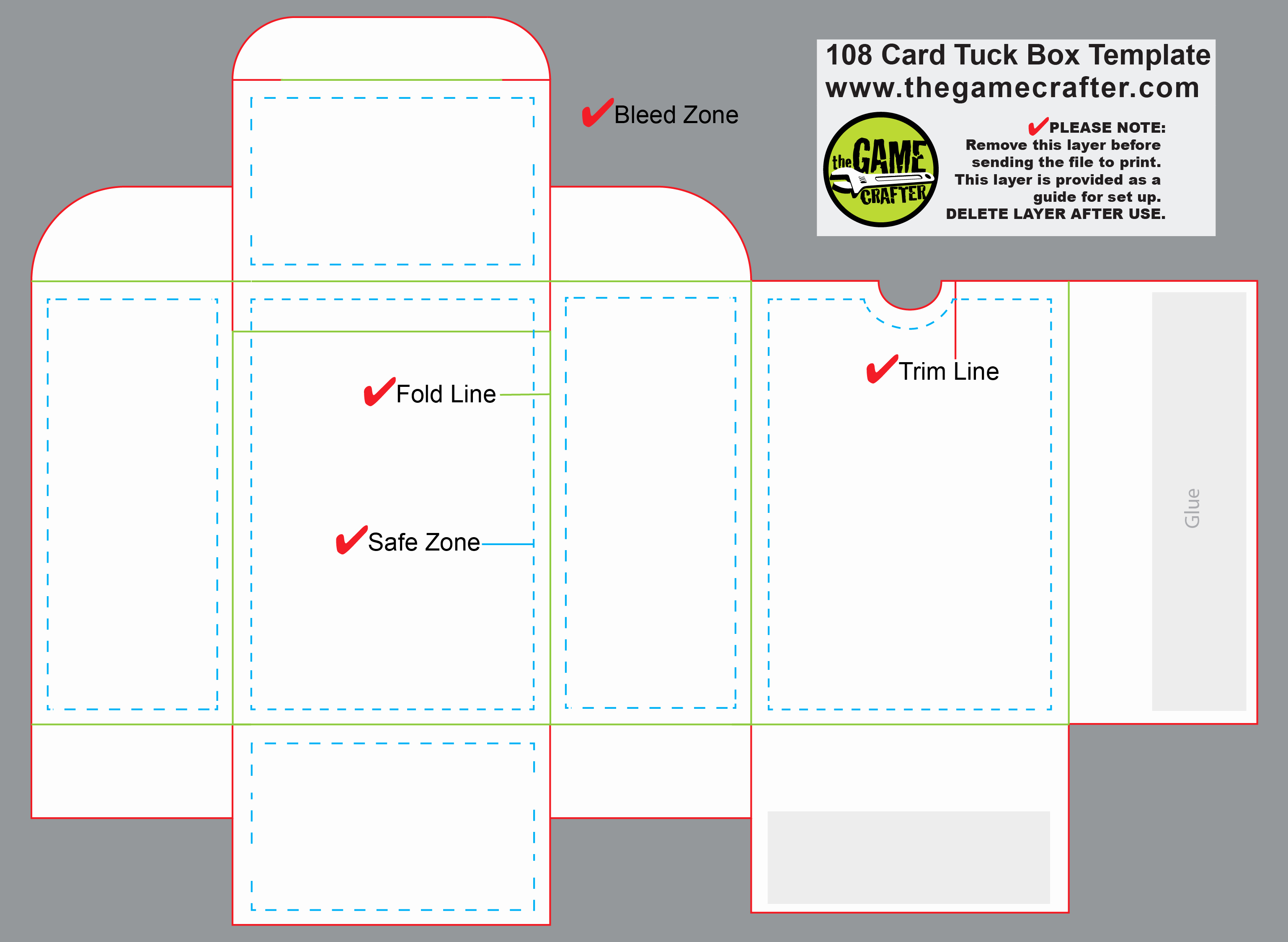 Poker Tuck Box 108 Cards