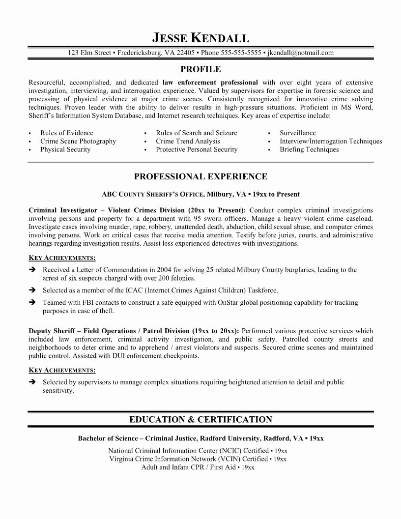 Police Officer Resume Resume Design Pinterest