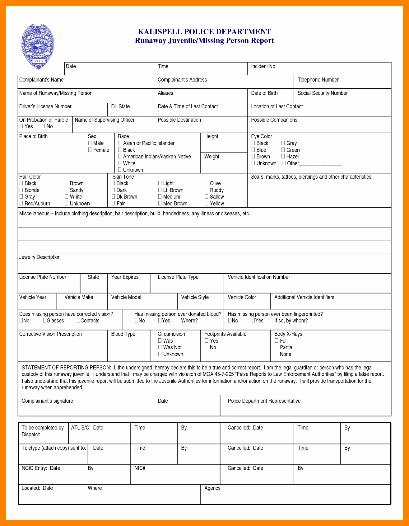 Police Report Template Google Docs Writing Frame Ks2
