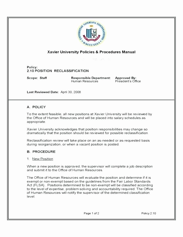 Policy Manual Template Hr Policy Manual Example