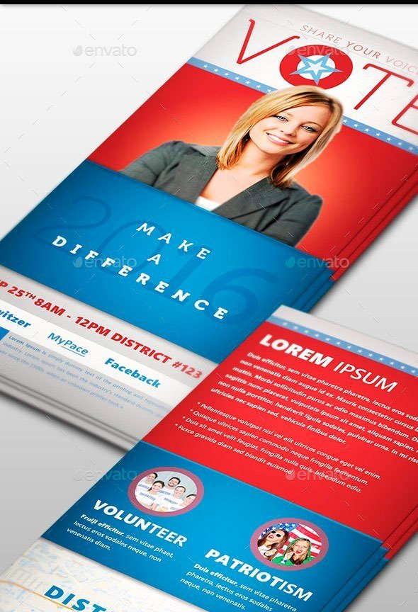 Political and Voting Flyer Templates