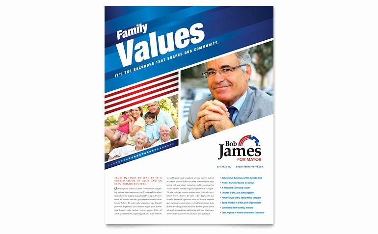 Political Campaign Flyer Template Word & Publisher