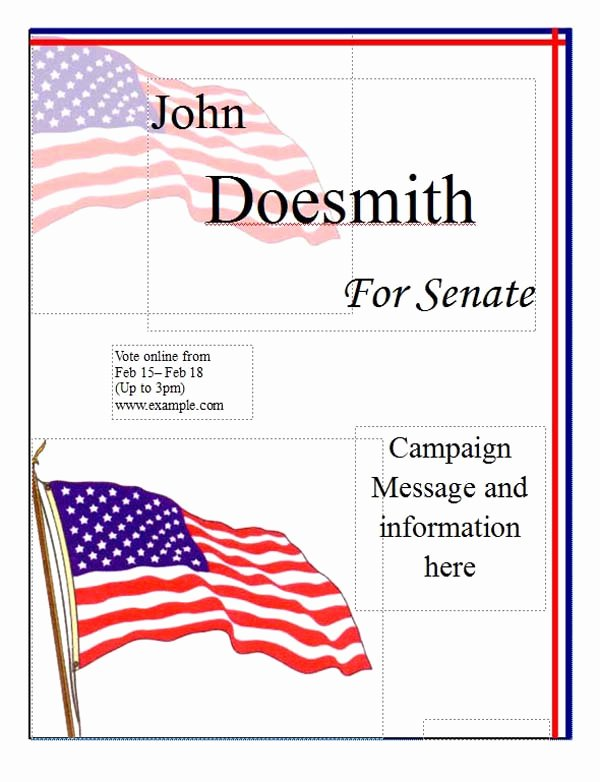 Political Campaign Poster Template Microsoft Word Templates