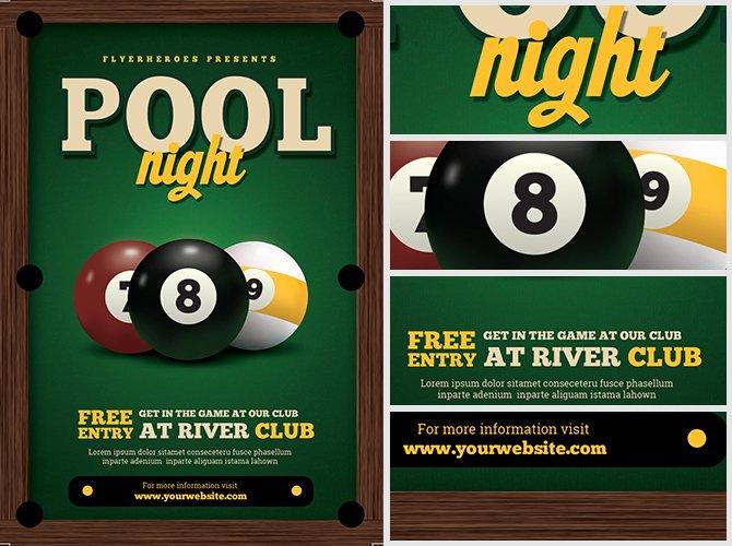 Pool Night Flyer Template Flyerheroes