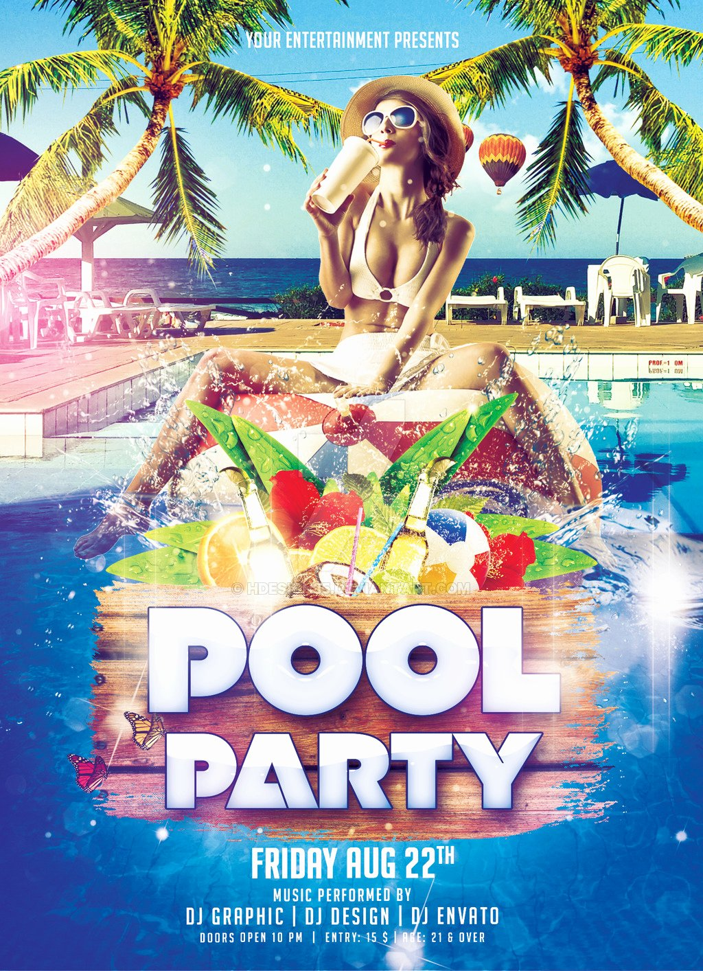 Pool Party Flyer by Hdesign85 On Deviantart