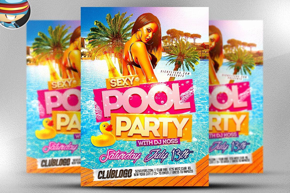 Pool Party Flyer Template Flyer Templates On Creative Market