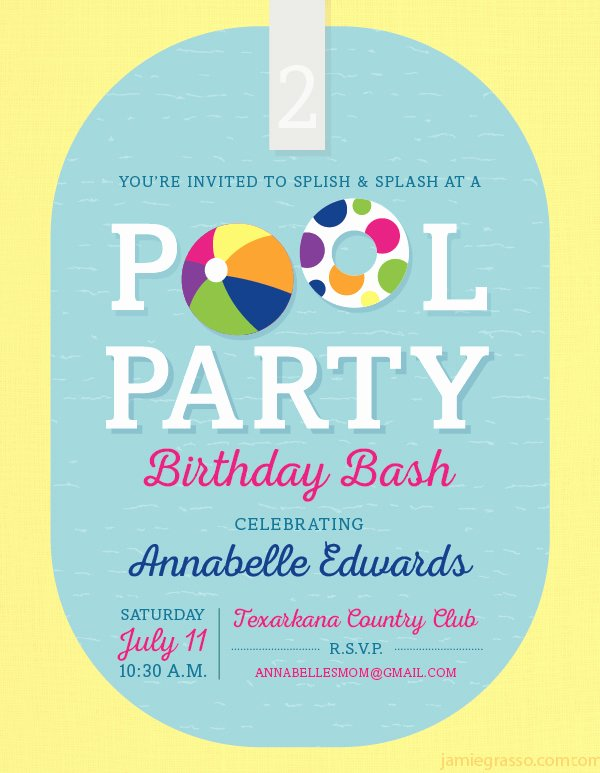 Pool Party Invitation Template 38 Free Psd format