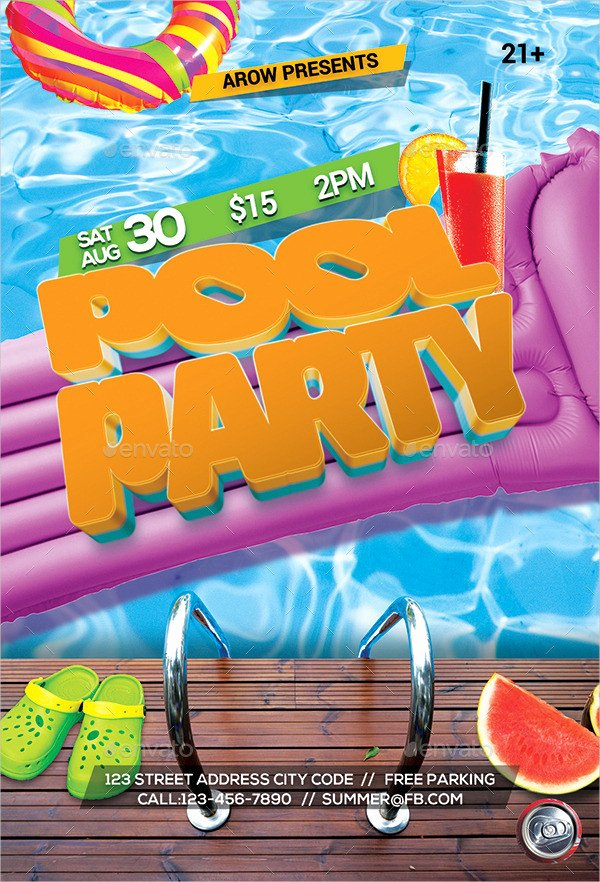 Pool Party Invitations Free Psd Vector Ai Eps for and