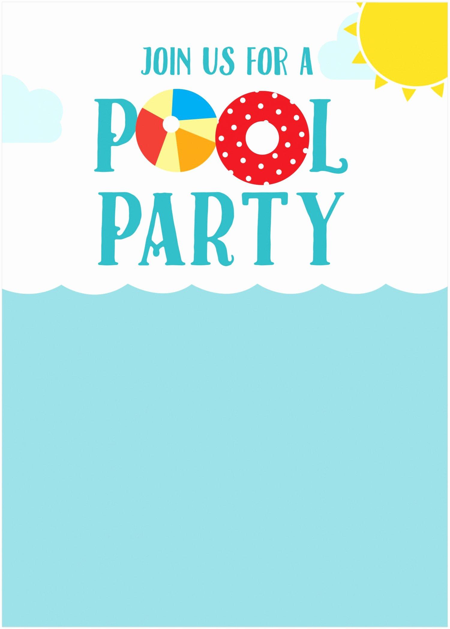Pool Party Invitations Templates Free Kinderhooktap