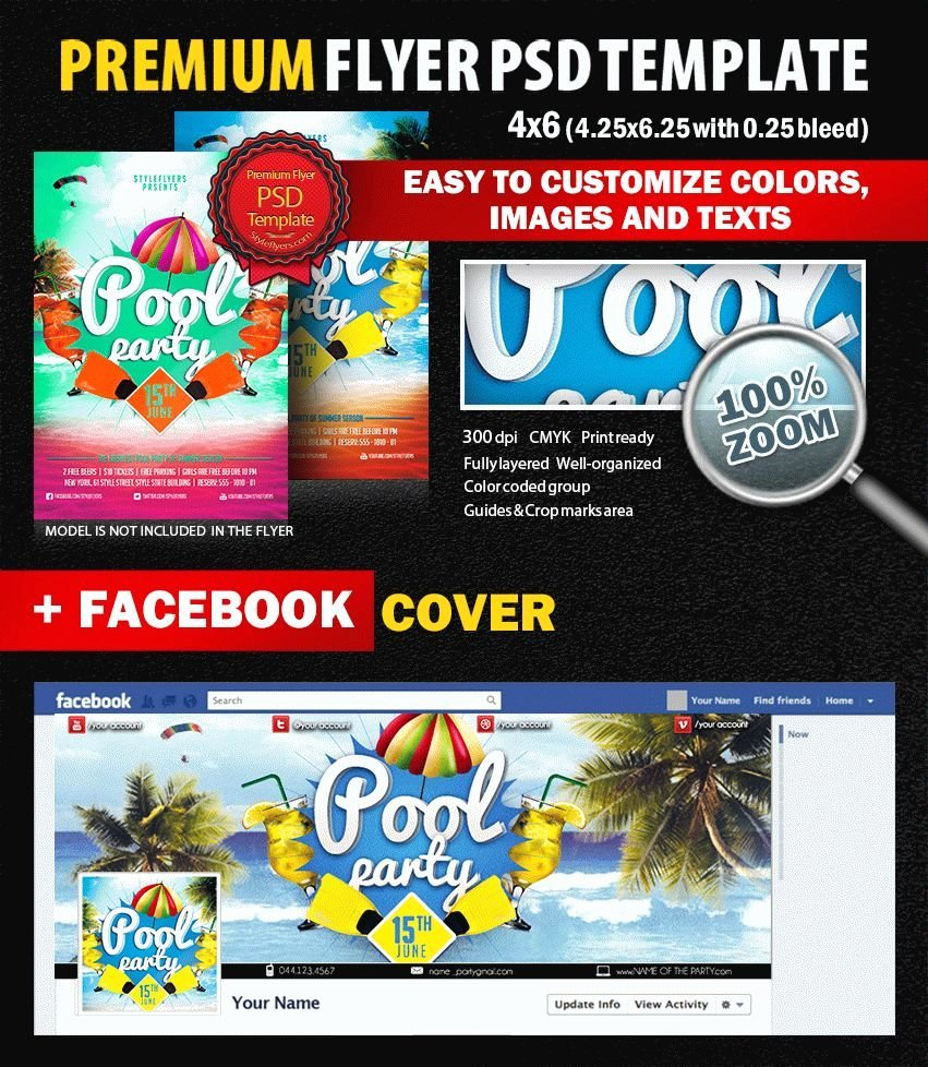 Pool Party Psd Flyer Template 8226 Styleflyers