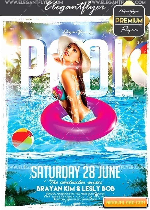Pool Party V13 Flyer Psd Template Cover Free
