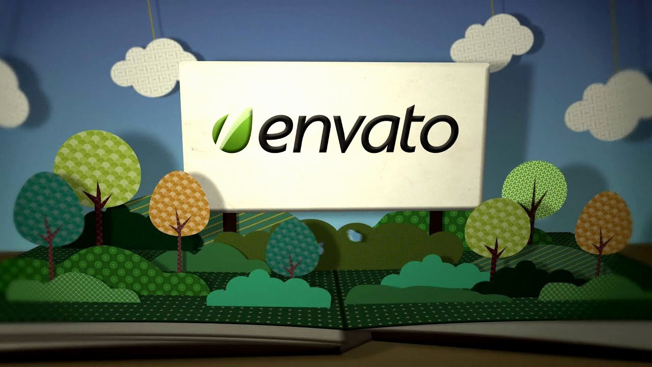Pop Up Book Logo Open after Effects Template
