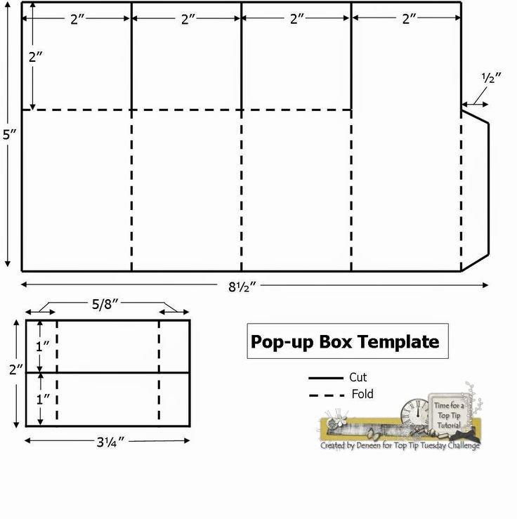 Pop Up Box Template Ts Invitation Size Envelope