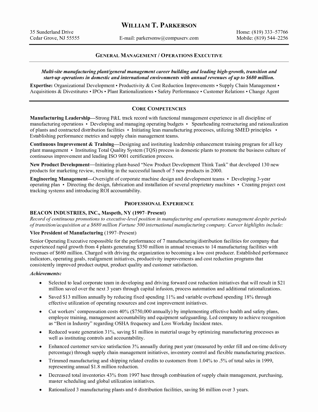 Popular Supply Chain Management Resume Objective